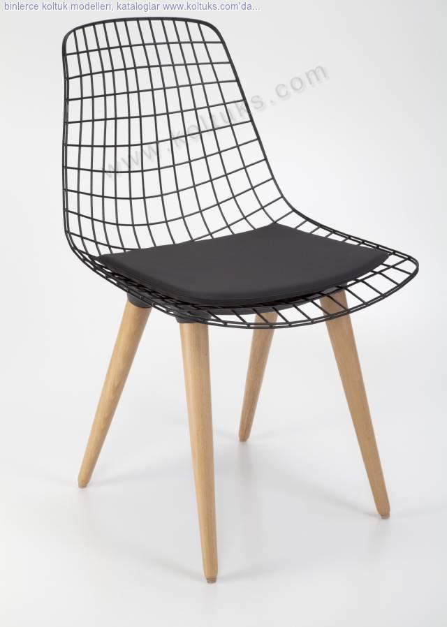 Ahşap Ayaklı Madin Sandalye