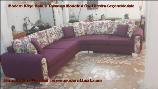 Bordo Modern L Köşe Koltuk Modeli
