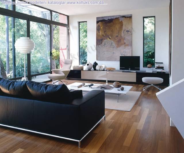 Dağ Evi Siyah Koltuk Modelleri
