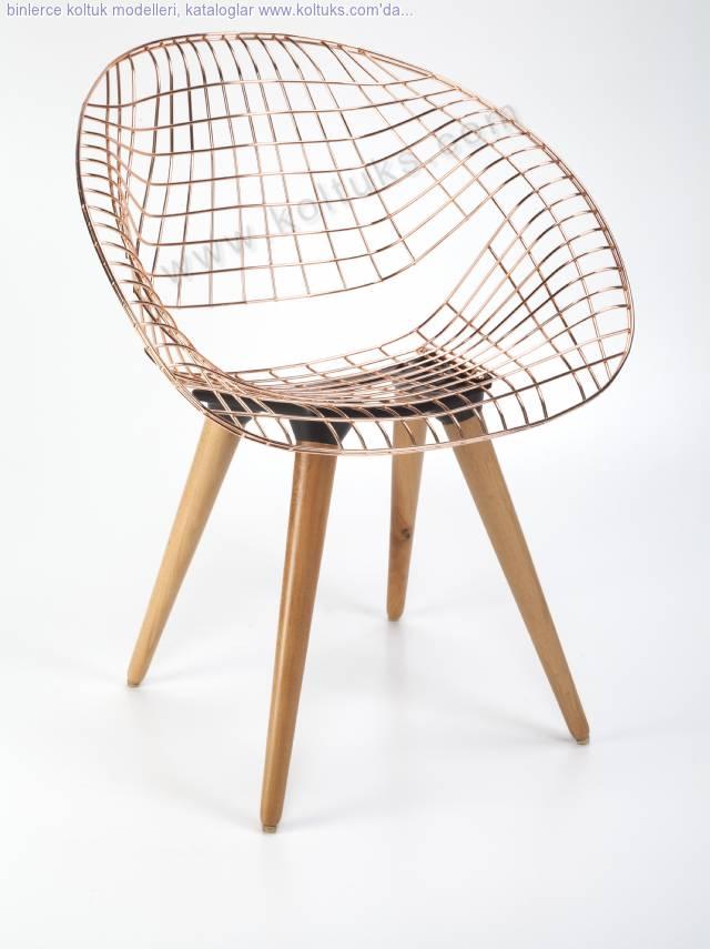 Hilal Sandalye Ahşap Ayaklı Mindersiz
