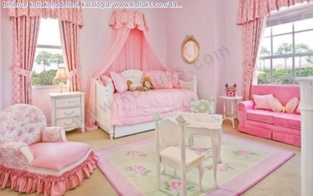 Lüks Pembe Kız Bebek Odası