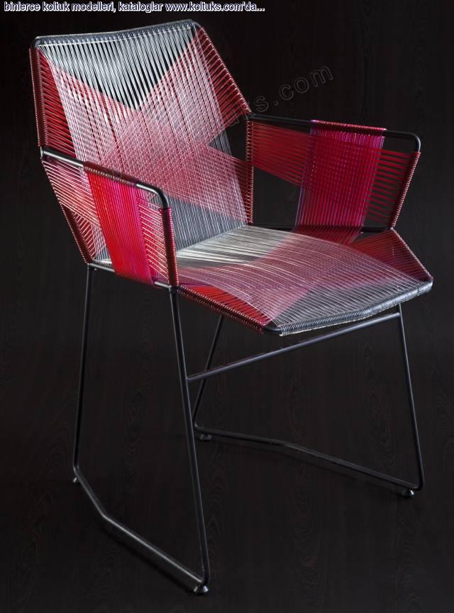 Metal Sandalye Sekizgen Kollu