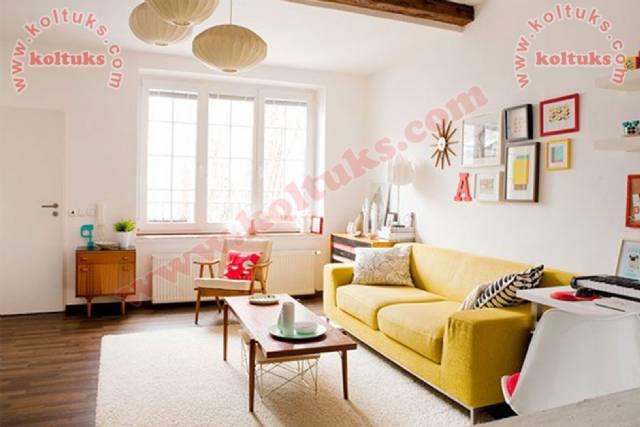 Sarı Renk Oturma Grubu