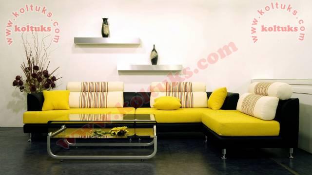 Sarı Ve Siyah Uyumlu Oturma Grubu