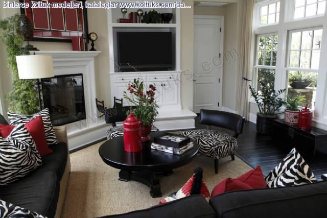 Siyah Beyaz Zebra Desenli Koltuk Modelleri