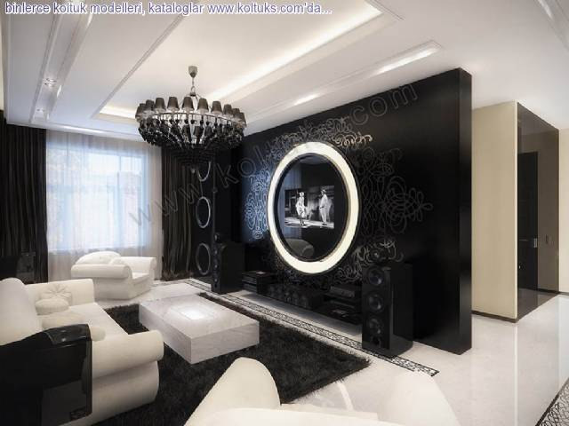 Siyah Suit Oda Koltuk Modelleri