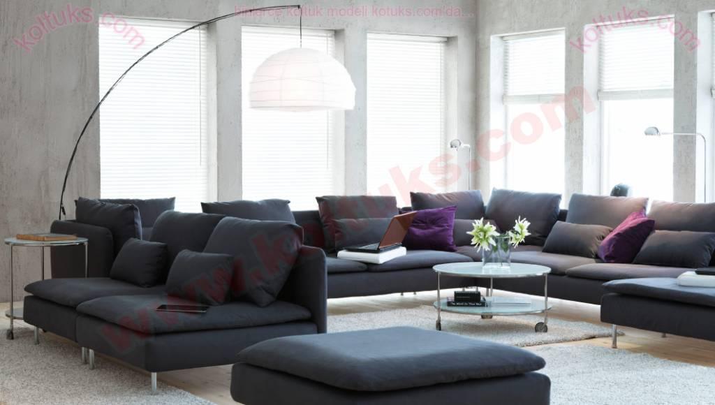 Fonksiyonel Modern Köşe Koltuk Takımı Salon Tasarımları
