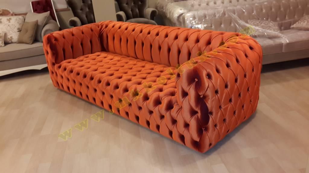 parlak kadife talyan chester koltuk kahve renk. Black Bedroom Furniture Sets. Home Design Ideas