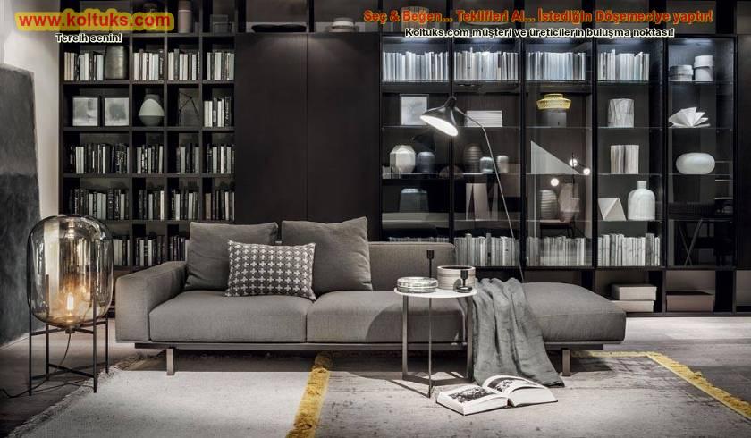 Modern kanepe kitap okurken uyumayı sevenlere