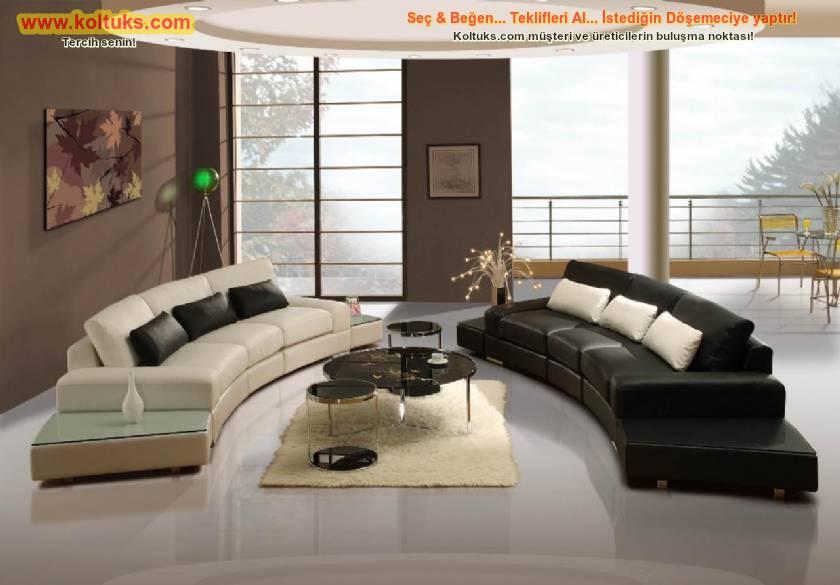 Oval koltuk takımı modern dekoratif tasarım