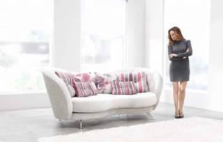 Dekoratif kanepe modeli modern tasarım