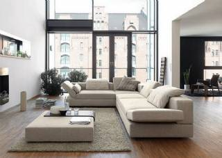 Modern L tasarım köşe koltuk takımı