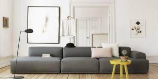 Modüler tasarım üç parça kanepe rahat ve zarif