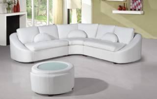 Oval hatlı modern L köşe koltuk takımı