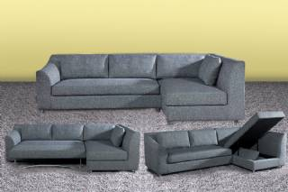 Yataklı sandıklı modern L köşe koltuk takımı