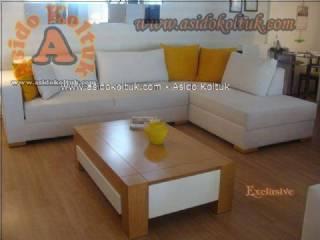 Küçük ölçülü odalar için L köşe koltuk modeli