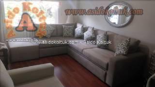 Yataklı modern köşe koltuk takımı